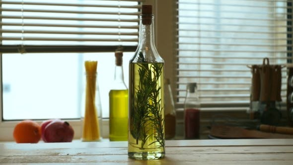 Thumbnail for Olive Oil Bottle on Kitchen Table