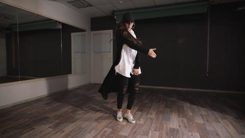 Professional Dancer Rehearsing