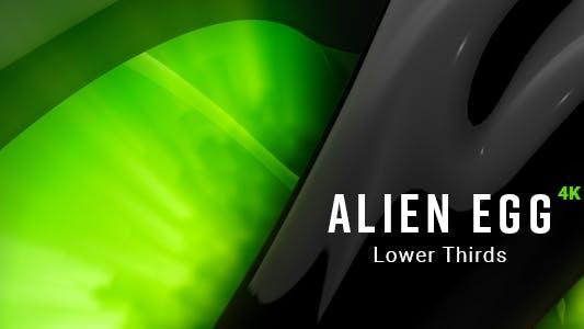 Alien Egg Lower Thirds 4K