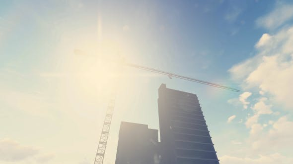 Thumbnail for Construction Site With Tower Crane