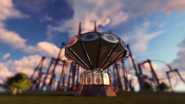 Thumbnail for Fun Fair And Amusement Park - Sunset