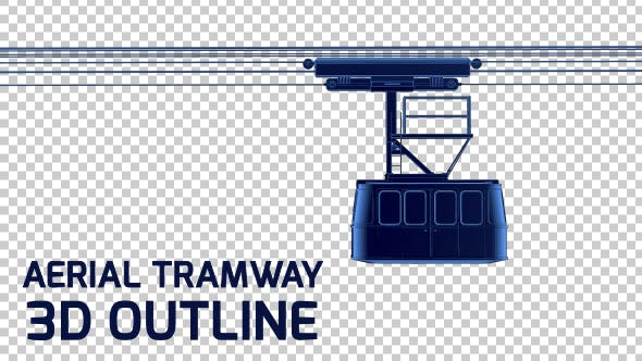 Thumbnail for Cable Car - Aerial Tramway - 3D Outline