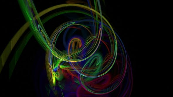 Thumbnail for Colorful Curves Abstract Loop Motion Background