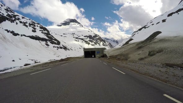Cover Image for Car Rides Through the Tunnel Point-of-view Driving