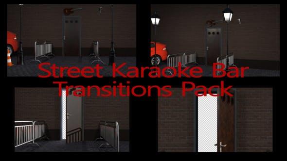 Thumbnail for Street Karaoke Bar Transitions Pack