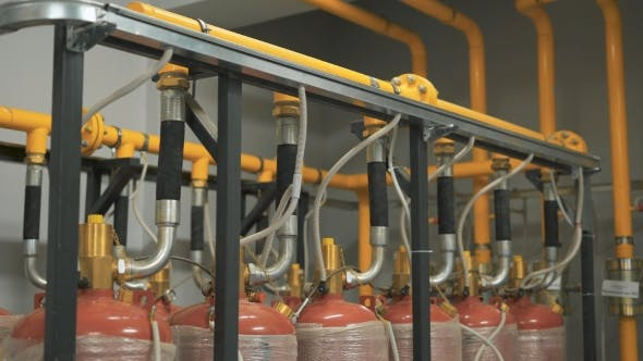 Thumbnail for A Large Number of Gas Cylinders Are Connected To a Single Pipeline Which Supplies Fuel the Company
