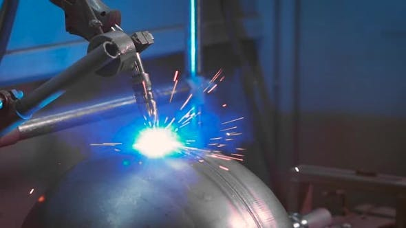 Thumbnail for Automated Electric Welding on Factory