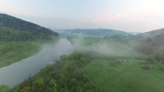 Thumbnail for From the Mountainside Come Down To the River a Fog