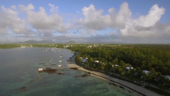 Thumbnail for Coastline of Mauritius, Aerial View