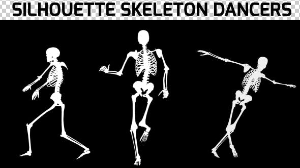 Thumbnail for Silhouette Skeleton Dancers - 3 Pack