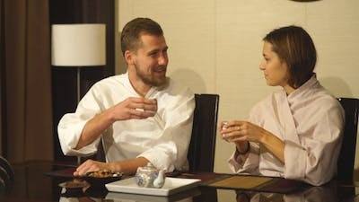 the Couple at the Tea Ceremony