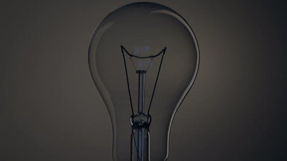 Thumbnail for Light Bulb on Black Background.