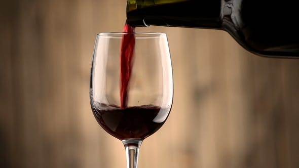 Thumbnail for Pouring Red Wine Into a Glass.