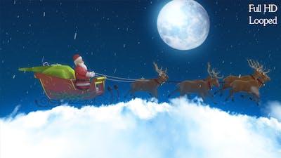 Santa with Cart