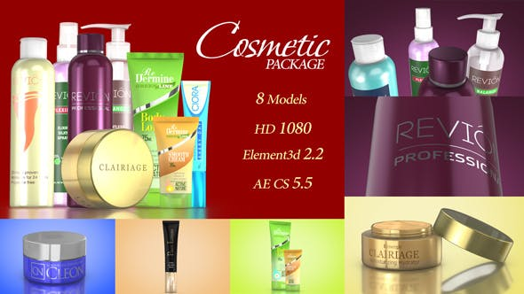 Thumbnail for Cosmetic Package Template
