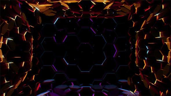 Thumbnail for Hexagonal Lights Background