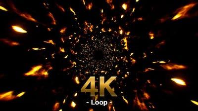 Flame Flakes Particles 4K Loop
