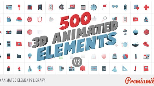Thumbnail for 3D Animated Elements Library