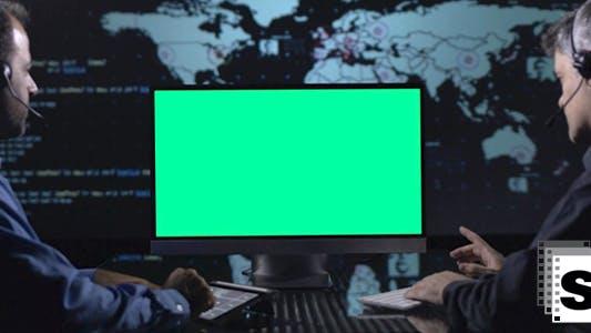 Thumbnail for Grüner Bildschirm für Business Telemeeting