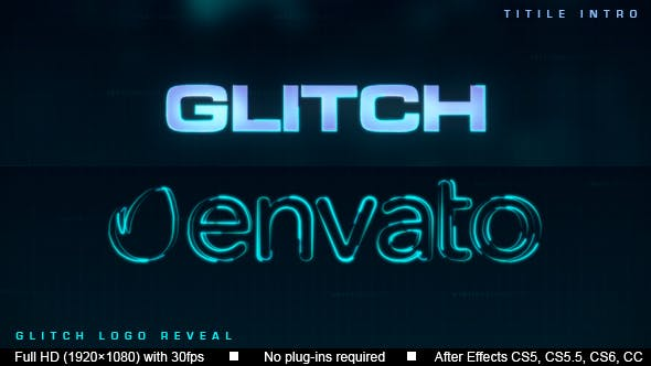 Thumbnail for Intro du Logo du titre Glitch