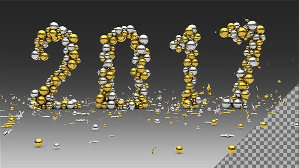 Year 2017 Golden Silver Balls Animated