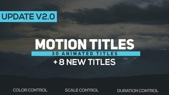 Thumbnail for Motion Titles v2.0