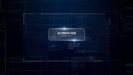 Ultimate HUD Library vol. 1/ Dron Ui Future Space Package/ Cyber Space Screens/ Circles/ Line/ Grid