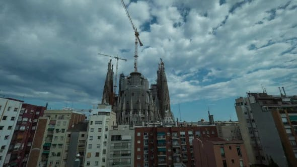 Thumbnail for Sagrada Familia in Day, Evening and at Night