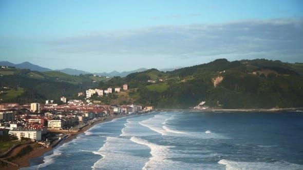 Thumbnail for View on Beach Break Waves on Surf Beach