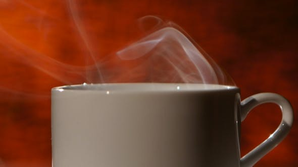 Thumbnail for White Refreshing Cup of Fragrant Coffee Spreads Pleasant Smells