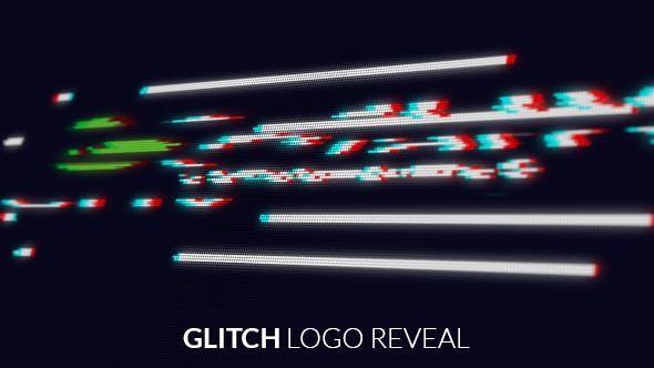 Thumbnail for Bildschirm Glitch Logo Reveal