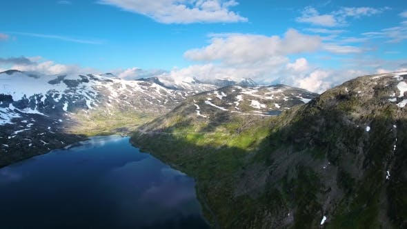 Aerial Footage Beautiful Nature Norway