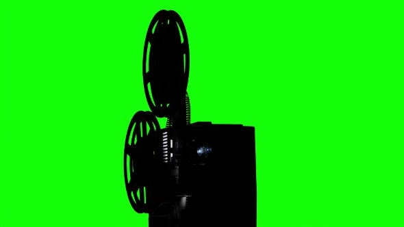 Thumbnail for Old Projector Turns the Tape. Studio Green Screen