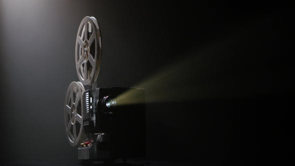 Thumbnail for Projector Illuminated By Lights Broadcasts a Movies
