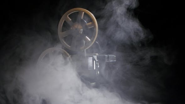 Thumbnail for Old Projector Showing Film in the Smoke