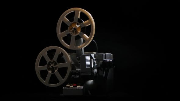 Thumbnail for Projector Shows Film. Changing the Lighting in the Studio