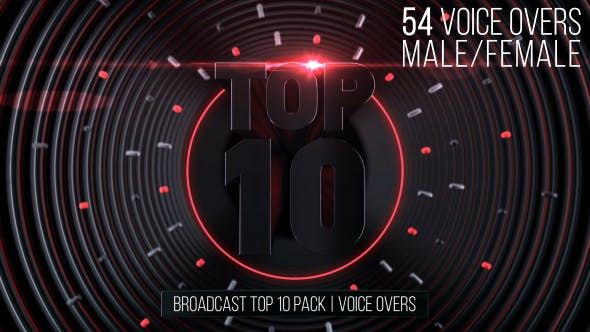 Thumbnail for Broadcast Top 10 Pack | Voice Overs