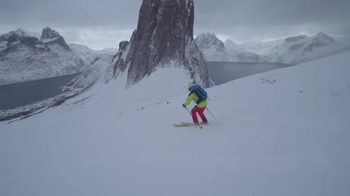 Skier On A Mountainside