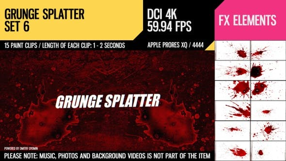 Thumbnail for Grunge Splatter (4K Set 6)