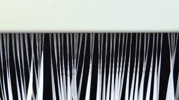 Shredder Destroys Paper Close-up