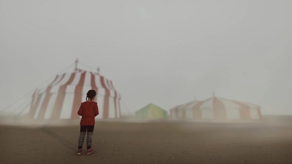 Circus and Little Girl