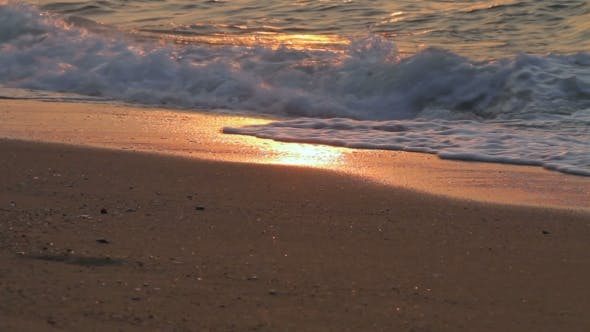 Thumbnail for Soft Wave of the Sea on Sandy Beach