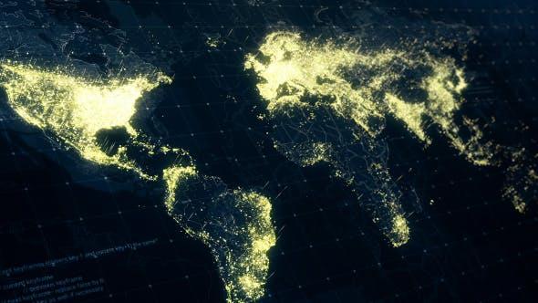 Thumbnail for World Map at Night HD