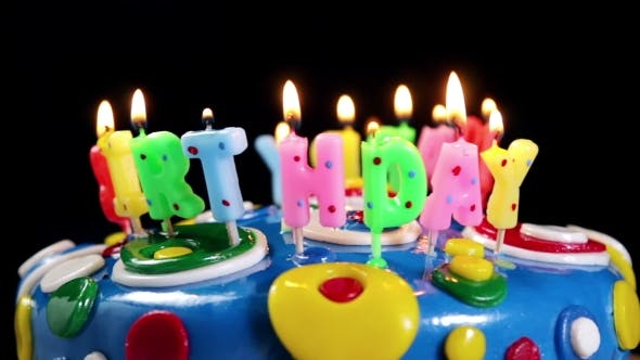 Thumbnail for Happy Birthday Candles on a Cake