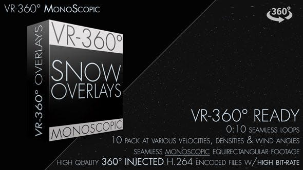 Thumbnail for Snow Overlay VR-360° Editors Pack (MonoScopic)