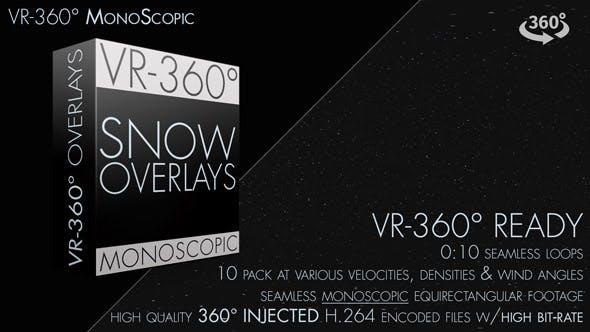 Snow Overlay VR-360° Editors Pack (MonoScopic)