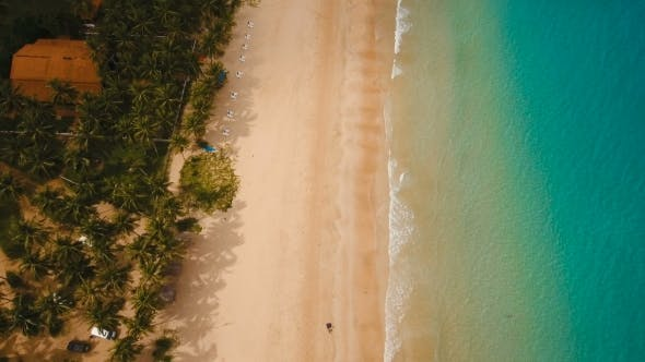 Thumbnail for Aerial View Beautiful Beach on a Tropical Island. Philippines, El Nido