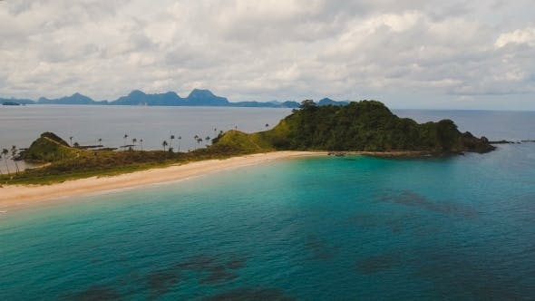 Cover Image for Aerial View Beautiful Beach on a Tropical Island. Philippines, El Nido