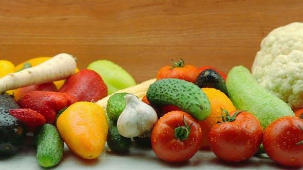 Thumbnail for Tracking Shot of Fresh Organic Vegetables