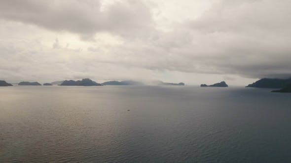 Thumbnail for The Beautiful Bay with Mountains Rocks Aerial View. Tropische Inseln.